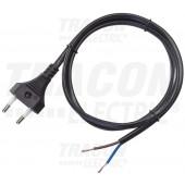 Napajalni kabel H05VVH2-F, 2×1,0mm2, 2m, IP20
