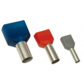 Votlica-dvojček 2x1mm2, L=8mm, rdeča