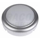 Ladijska LED svetilka-plastična, okrogla, srebrn okvir 230 V, 50 Hz, 8 W, 4000 K, 560 lm, IP54, ABS+PC, EEI=A