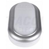 Ladijska LED svetilka-plastična, ovalna, srebrn okvir 230 V, 50 Hz, 8 W, 4000 K, 560 lm, IP54, ABS+PC, EEI=A