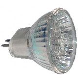 LED žarnica, MR16, 12V 1,2 W 18LED, modra, G5.5