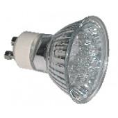 LED žarnica, MR11, MR230, 230V 1,2 W 18LED, rdeča, GU10