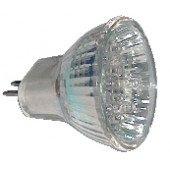 LED žarnica, MR16, 12V 1,2 W 18LED, rdeča, G5.5