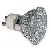 LED žarnica, MR11, MR230, 230V 1,2 W 18LED, modra, GU10