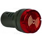 Osvetljeno tipkalo za zvočni signal, rdeče, za ploščo AC230V