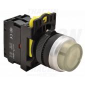 Svetleče tipkalo, izbočeno, črno 1×NO, 5A/230V AC-15, IP65, LED 230V AC/DC