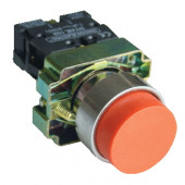 Tipka izbočena z ohišjem, rdeča, 1×NC, 3A/240V AC, IP44