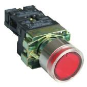 Svetilna tipka z ohišjem, rdeča, glim, 1×NC, 3A/400V AC, 230V, IP44