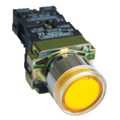 Svetilna tipka z ohišjem, rumena, glim, 1×NO, 3A/400V AC, 230V, IP44