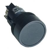 Plastična tipka z ohišjem, črna 1Z 22mm 400V/0,4A, IP44