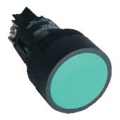 Plastična tipka z ohišjem, zelena 1V, 22mm, 400V/0,4A, IP44