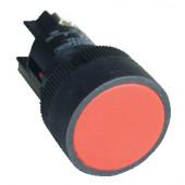Plastična tipka z ohišjem, rdeča 1V 22mm, 400V/0,4A, IP44