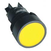 Plastična tipka, rumena, 1Z, 22mm, 400V/0,4A, IP42