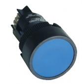 Plastična tipka z ohišjem, modra, 1Z, 22mm, 400V/0,4A, IP44