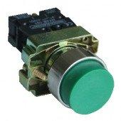 Tipka izbočena, zelena, 1×NO, 3A/240V AC, IP42