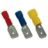 Vtični kontakt 1,5 mm2, 6,3x0,8 mm, rdeč