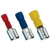 Izolirani natični kontakt 1,5 mm2, 6,3x0,8 mm, rdeč
