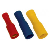 Okrogli ženski kontakt 1,5 mm2, d1=1,8 mm, d2=4 mm, rdeč