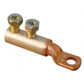 Cu-Al kabelski čevelj, 2 vijačni, z odprtino d=12 mm, 16-70 mm