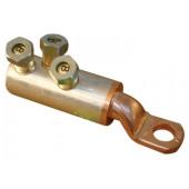 Cu-Al kabelski čevelj, 2 vijačni, z odprtino d=16 mm, 185-240