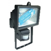 Reflektor halogenski s senzorjem R7s 150W 78mm, črn, IP54, 120°