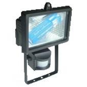 Reflektor halogenski s senzorjem R7s,500W 118mm, črn, IP54 120°