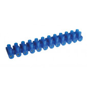 "Dvoredna vrstna sponka 16 mm2, 63A, ""U"", 12 členov, PE, modra"