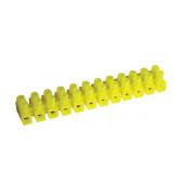 """Dvoredna vrstna sponka 10 mm2, 32 A, """"U"""", 12 členov, PE, rumena"""