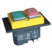 Varnostno vgradno stikalo, podnapetostno, 2 polno, rumen okvir, 15A/250V AC, IP55
