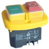 Varnostno vgradno stikalo, podnapetostno, 2 polno, rumen.okvir, 15A/250V AC, IP55