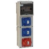 Industrijska priključna omarica brez zaščite 2×(16A,2P+E) CEE, 1×(16A,3P+N+E)