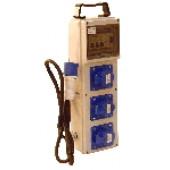Industrijska priključna omarica z zaščito 3×(16A,2P+E) CEE