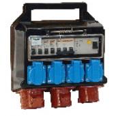 Industrijska priključna omarica z zaščito 4×(16A,2P+E), 2×(16A,3P+E)