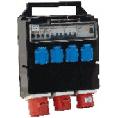Industrijska priključna omarica z zaščito 4×(16A,2P+E), 1×(32A, 3P+N+E), 1×(16A, 3P+E)