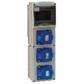 Industrijska priključna omarica z zaščito 3x(32A,2P+E) CEE
