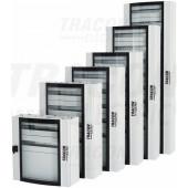 Kovinska razdelilna omara-ukrivljena varnostna steklena vrata 600×900×200mm / 120M (24×5 mod)