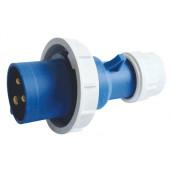 Industrijski vtikač 16A, 250V, 2P+E, IP67 s povečano zaščito