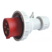 Industrijski vtikač 16A, 400V, 3P+E, IP67 s povečano zaščito