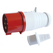 Industrijski vtikač 16A, 400V, 3P+E, IP44 z zaščito pred prelomom kabla