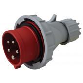 Industrijski vtikač 16A, 400V, 5P, IP67 s faznim pretvornikom in z zunanjo uvodnico