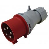Industrijski vtikač 32A, 5P, IP44 s faznim pretvornikom, uvodnico, funkcija menjave faze