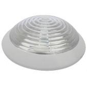 Okrogla zidna svetilka z zaščito, IP44, E27, max. 40 W, bela