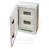 Plastična razdelilna omara z masko, prozorna vrata 1×8mod, L×W×H=280×210×130mm, IP65, IK08, 1000V AC/DC