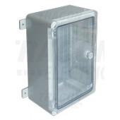 Plastična razdelilna omara, prozorna vrata L×W×H=330×250×130mm, IP65, IK08, 1000V AC/DC, RAL7035