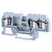 Vrstna sponka za fazni vodnik, vzmetna, na šino, siva 800V 32A 0.08-4 mm2 3P
