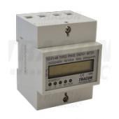 Števec električne porabe  - LCD, direktno merjenje, 3F, 4M, 400V / 10 (100)A