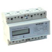 Števec električne porabe - LCD prikaz, merjenje s transformatorjem, 3F, 400V / 5A CT
