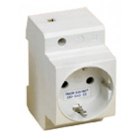Vrstna vtičnica 2P+F, z stranskozaščitnim kontaktom