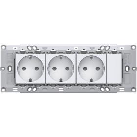 Set vtičnic 3x SCHUKO 2P+E 16A 250V~ 7M PW
