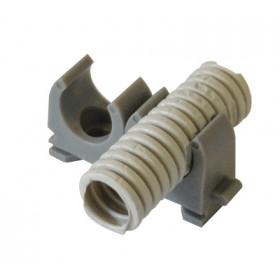 Objemka - skoba za cev D=20mm, 1/2coll, PE